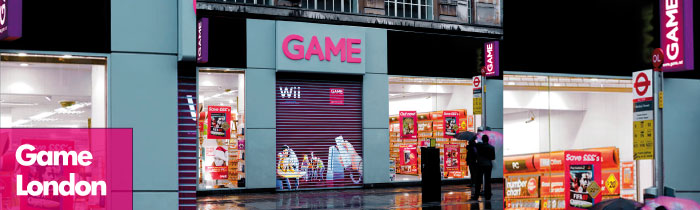 Shutters at Game, Oxford Street, London